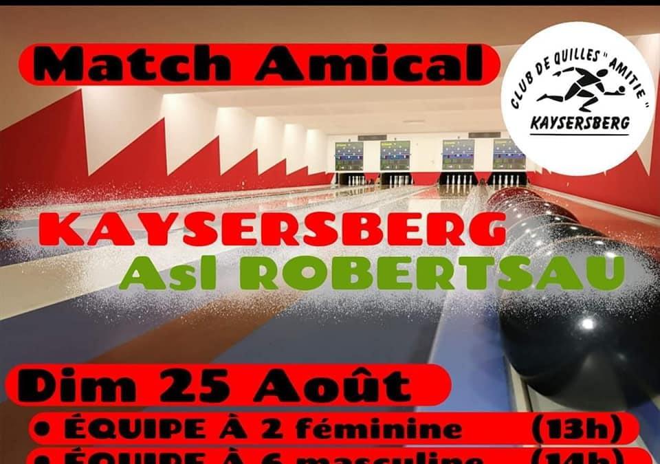 Match amical ASL vs Kaysersberg
